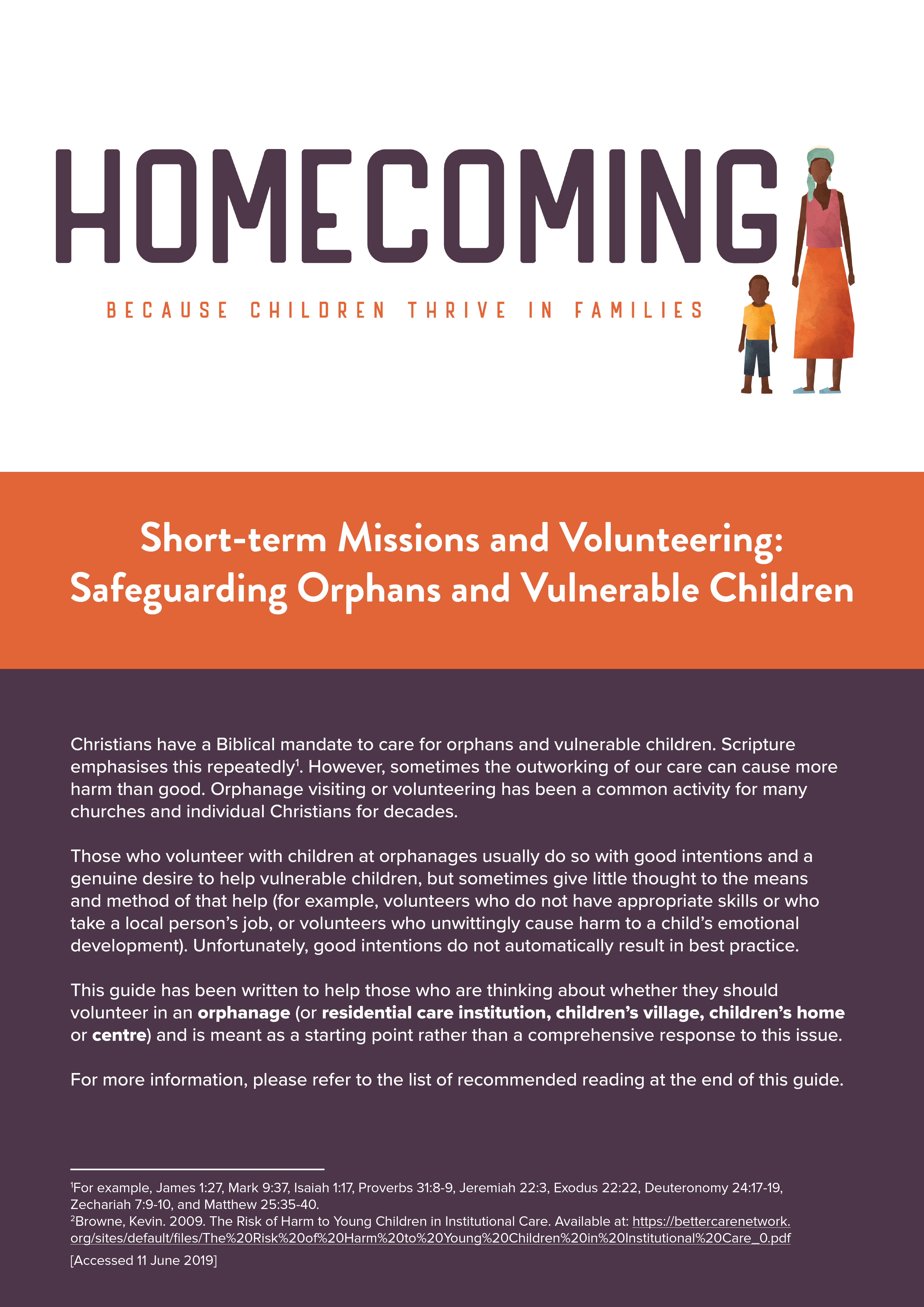 Short-term Missions and Volunteering: Safeguarding Orphans and Vulnerable Children