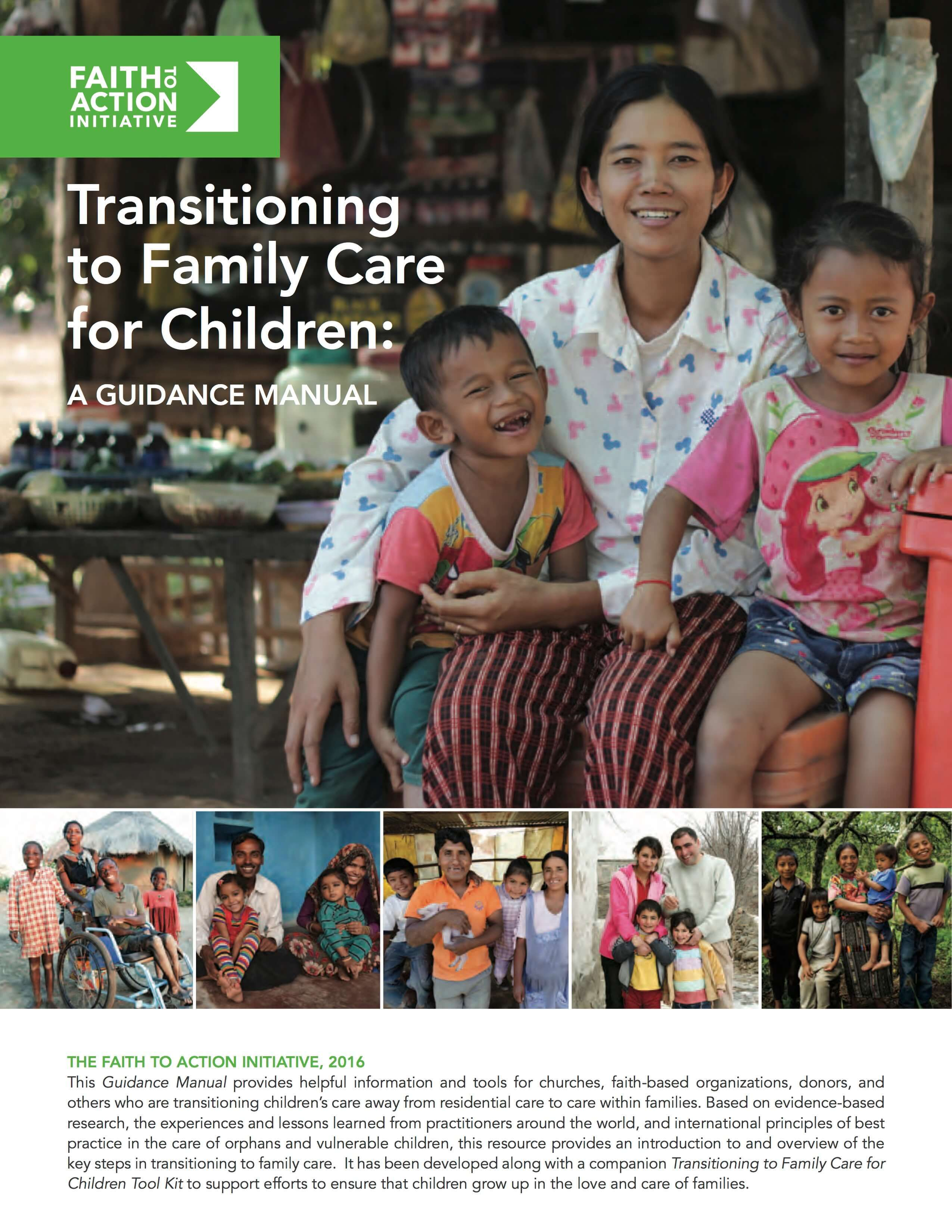 Transitioning to Family Care for Children: Guidance Manual